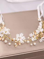 cheap -Women's Hair Jewelry For Wedding Wedding Geometrical Alloy Red White 1pc