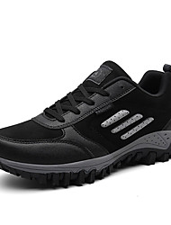 cheap -Men's Comfort Shoes PU Fall Sporty Athletic Shoes Hiking Shoes Non-slipping Black / Gray