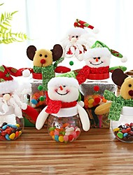 cheap -3pcs Child Kids Christmas Gift Bags Candy Jar Storage Bottle Santa Bag Sweet Christmas Gift Bags And Boxes New Year Random Color