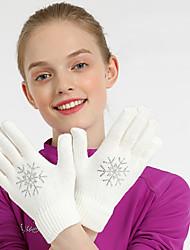 cheap -Figure Skating Gloves All Ice Skating Dress Gloves Black White Sky Blue Training Skating Wear Crystal / Rhinestone Figure Skating / Winter
