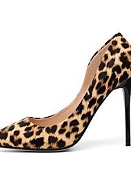 cheap -Women's Heels Stiletto Heel Pointed Toe Suede Winter Brown / White