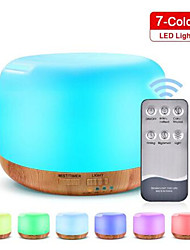 cheap -Remote Control 300Ml Aroma Diffuser Ultrasonic with Changing Colored Led Lights Cool Spray Mist Essential Oil Humidifier