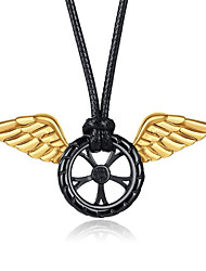 cheap -Men's Women's Pendant Necklace Geometrical Angel Wings Fashion Titanium Steel Gold 50 cm Necklace Jewelry 1pc For Gift Daily