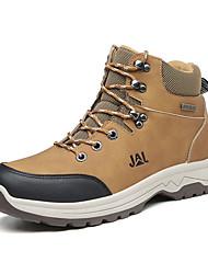 cheap -Men's Comfort Shoes PU Winter Athletic Shoes Hiking Shoes Black / Gray / Khaki