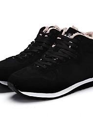 cheap -Men's Comfort Shoes PU Winter Athletic Shoes Booties / Ankle Boots Black / Blue