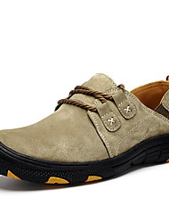 cheap -Men's Leather Shoes Leather Winter Athletic Shoes Mid-Calf Boots Purple / Gray / Khaki