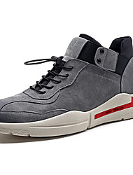 cheap -Men's Comfort Shoes Leather Fall & Winter Athletic Shoes Running Shoes Black / Gray