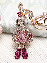 cheap -Keychain Rabbit Novelty Rhinestone Zinc Alloy Unisex Toy Gift