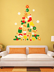 cheap -Christmax candy tree wall acrylic stickers home festival decors