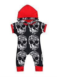 preiswerte -Baby Jungen Aktiv Druck / Solide Druck Kurze Ärmel Einzelteil Rote