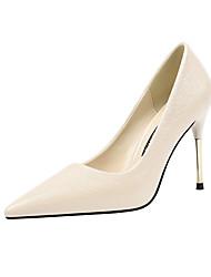 cheap -Women's Heels Stiletto Heel Pointed Toe PU Minimalism Spring & Summer Black / Camel / Almond / Party & Evening