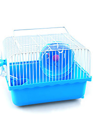 cheap -Rodents Mouse Hamster Cages Bed Plastic Brown Blue Pink
