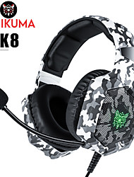 cheap -ONIKUMA K8 Gaming Headset Wired Stereo Dual Drivers with Microphone with Volume Control HIFI for Gaming