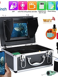 cheap -F011M-15M-IR Fish Finder Underwater Fishing 1080P Camera Kit 7 Inch WIFI Wireless 16GB Video Recording DVR  15M W IR Camera