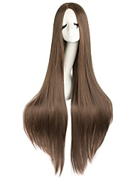 cheap -Cosplay Costume Wig Synthetic Wig Straight Kardashian Middle Part Wig Very Long Azure Light Brown Lake Blue Natural Black #1B Blonde Synthetic Hair Women's Cosplay Party Red White