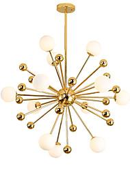 cheap -12 Bulbs 80 cm Chandelier Metal Glass Cluster Sputnik Electroplated Modern Nordic Style 110-120V 220-240V