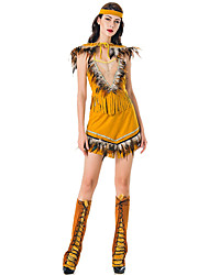 cheap -Indian Girl Adults Women's Cosplay Ethnic & Interracial Dress For Party Halloween Spandex Polyester Halloween Carnival Masquerade Dress