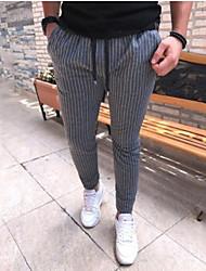 cheap -Men's Basic Chinos Pants - Striped / Snake Print Black, Stripe Black Light gray Royal Blue US34 / UK34 / EU42 US36 / UK36 / EU44 US38 / UK38 / EU46