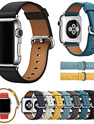 cheap -Luxury Leather Watch Band For Apple Watch Series 6 SE 5 4 3 2 1  Replaceable Bracelet Wrist Strap Wristband