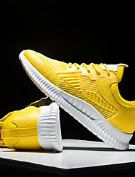 cheap -Men's Light Soles Mesh Fall & Winter Sporty / Casual Athletic Shoes Running Shoes / Walking Shoes Breathable Black / White / Yellow