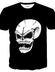 Недорогие -Горячие продажи летом 3d цифровой череп напечатаны мужские футболки с коротким рукавом моды о-образным вырезом битник