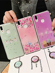 cheap -Case For Apple iPhone XS / iPhone XR / iPhone XS Max Ring Holder / Pattern Back Cover Food / Flower TPU