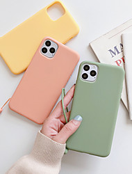 cheap -Case For Apple iPhone 11 / iPhone 11 Pro / iPhone 11 Pro Max Dustproof / Ultra-thin Back Cover Solid Colored TPU
