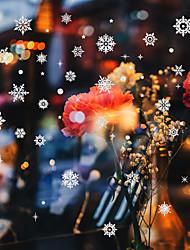 Недорогие -Xh-001 шелкография золотой порошок снежинка рождество новый год окно стеклянное окно магазин ресторан домашний фон украшения стикер стены