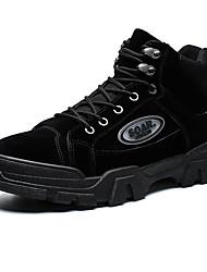 cheap -Men's Comfort Shoes PU Winter Boots Black / Brown / Gray