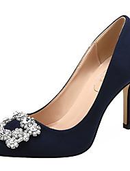 abordables -Femme Chaussures de mariage Talon Aiguille Bout pointu Strass Daim Doux Printemps & Automne Noir / Amande / Jaune / Mariage