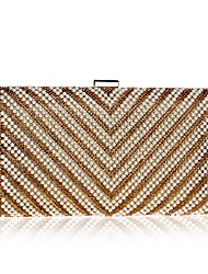 cheap -Women's Crystals / Beading PU Leather Evening Bag Wedding Bags Solid Color Black / Gold / Silver / Fall & Winter