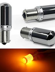 cheap -2pcs/lot Super Bright 144 leds 3014 1156 Ba15s T20 LED P21W W21W PY21W LED Bulbs No canbus Error Turn Light Signal Parking light
