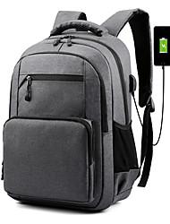 Недорогие -Большая вместимость Полиэстер Молнии рюкзак Сплошной цвет Повседневные Черный / Синий / Красный