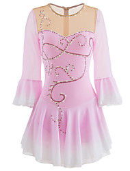cheap -Figure Skating Dress Women's / Girls' Ice Skating Skirt / Dress / Bottoms Pink Performance Skating Wear Handmade Half Sleeve Ice Skating / Figure Skating