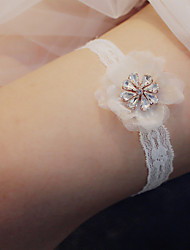 cheap -Lace / Metal Wedding / Simple Style Wedding Garter With Lace / Flower Garters Wedding Party