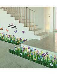 Недорогие -ay701 трава бабочка танец линия талии плинтус юбка цветы и трава украшения дома фон съемные наклейки