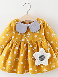 cheap -Baby Girls' Basic Polka Dot Long Sleeve Dress Purple