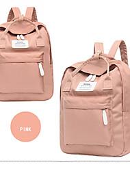 cheap -Large Capacity Canvas Zipper School Bag Color Block Daily Black / Gray Green / Dusty Rose