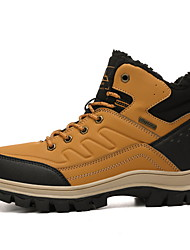 cheap -Men's Comfort Shoes PU Fall & Winter Athletic Shoes Hiking Shoes Black / Yellow / Dark Blue