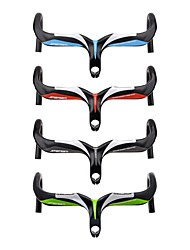 cheap -Carbon Fiber Bike Handlebar Road Bike Handlebar Drop Bar 28.6 mm 400/420/440 mm Cycling Comfortable Ergonomic Design Road Bike Cycling Green Red Blue 3K Glossy