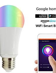 Недорогие -1шт 18 W Круглые LED лампы Умная LED лампа 700 lm B22 E26 / E27 21 Светодиодные бусины Контроль APP Smart синхронизация Multi-цветы 85-265 V
