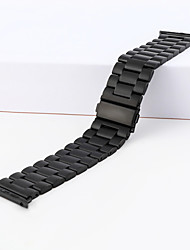Недорогие -Нержавеющая сталь Ремешок для часов Ремень для Черный / Белый / Серебристый металл 23см / 9 дюйма 2.2cm / 0.9 дюймы