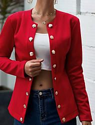cheap -Women's Stand Collar Vest Black / Red / Navy Blue S / M / L