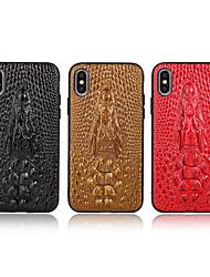 ieftine -Maska Pentru Apple iPhone XS / iPhone XR / iPhone X Model Capac Spate Mată / Animal PU piele