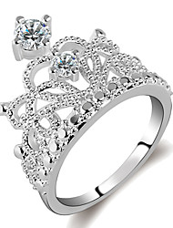cheap -Women's Ring 1pc Silver Platinum Plated Alloy Daily Jewelry Cute