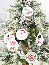 cheap -Christmas Tree Decoration Wood 6pcs Christmas