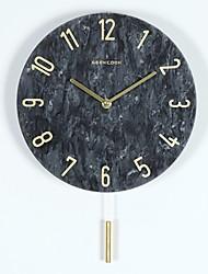 Недорогие -настенные часы, современный современный мрамор круглый крытый