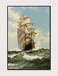 cheap -Framed Art Print Framed Set - Scenic Aquatic & Nautical PS Oil Painting Wall Art