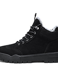 cheap -Men's Suede Shoes Suede Fall & Winter Boots Booties / Ankle Boots Black / Beige / Khaki