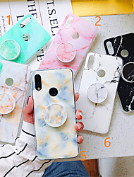 cheap -Case For Xiaomi Xiaomi Redmi Note 5 / Xiaomi Mi 8 / Xiaomi Mi 8 Lite with Stand / Pattern Back Cover Marble TPU